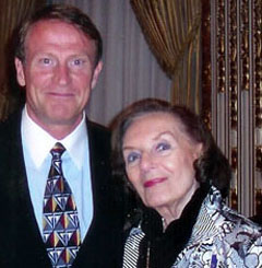 Mark Thompson with Frances Hesselbein